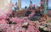 "Sir Lawrence Alma-Tadema 1888,Roses of Heliogabalus, antique, 20""x12"" Canvas Art"