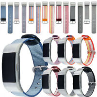Woven Fabric Watchband Strap Replacement Wrist Band Bracelet For Fitbit Charge 2