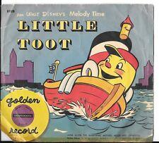 A Little Golden Record, Walt Disney's LITTLE TOOT, 6 In. 78 RPM w/Sleeve, FAIR