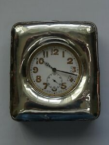 Antique and Large Pocket Watch   GOLIATH    running with a silver exposition box