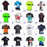 Mens Team Short Sleeve Cycling Jersey Bicycle Full Zip Racing Shirt Bike Tops UK