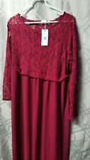 Womens Just V H Size Medium Red Lace Maternity Dress