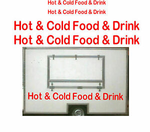 4x Hot & Cold Food & Drink, Burger Van Stickers, Catering Trailer Cafe Catering
