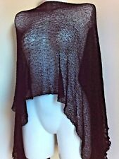 NEW THIN  KNIT  PONCHO SHAWLS GIFT NIGHT PARTY  SCARVES VINTAGE HOLIDAY STOLE