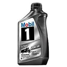 Mobil 1 112630; Oil; V-Twin; SAE 20W-50; Full Synthetic;; 4 PACK