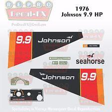 1976 Johnson 9.9 HP Outboard Reproduction 10 Piece Marine Vinyl Decal Sea-Horse