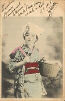 Japan Lady Geisha 1904 Posted Postcard 03.77