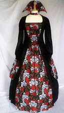 Gothic Skull Dress with collar Halloween Custom Made to size