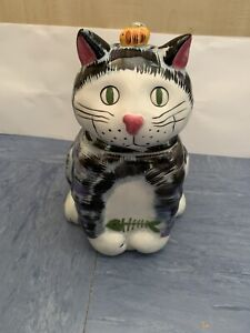 CAT BISCUIT STORAGE BARREL