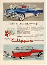 1955 ORIGINAL VINTAGE PACKARD CLIPPER CAR MAGAZINE AD
