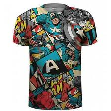 Marvel Captain America - Captain America Comic Strip T-Shirt NEU OVP