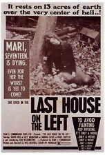LAST HOUSE ON THE LEFT Movie POSTER 27x40 Sandra Cassel Lucy Grantham David Hess