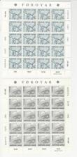 Faroe Islands, Postage Stamp, #81-82 Sheets Mint NH, 1982 Map