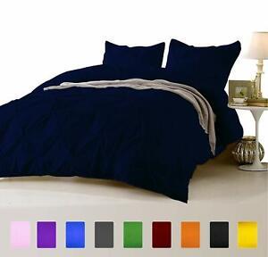 US Full 5 PC Pinch Pleated(Comforter+Duvet Set+Bed Skirt)1000 TC Egyptian Cotton