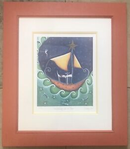 Modern Art Ltd Edition Artists Proof Print 43/50 Wishing On A Star By Libby Lord