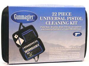 GUNMASTER Pistol Cleaning Kit - 22 Pieces - Universal Handgun Kit in Zip Case