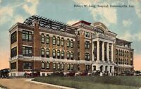 Postcard Robert W. Long Hospital in Indianapolis, Indiana~125337