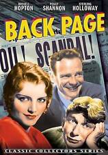 THE BACK PAGE (DVD) Black and White - 1933 Peggy Shannon Russell Hopton