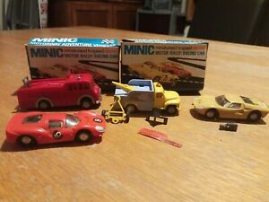 Lot Of 4 Minic Vehicles Fire Engine Breakdown Truck 2 gt cars all used