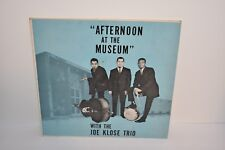 JOE KLOSE TRIO Afternoon At Museum 1961 Private Jazz LP Sleeve Only No Record