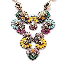 New Vintage Jewelry Maxi Crystal Multi Layer Gold Statement Necklace Boho Bijoux