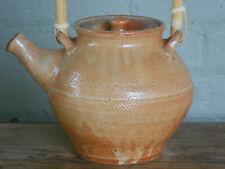 Studio pottery teapot, stoneware with shino glaze