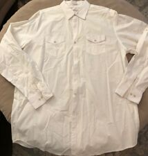 Calvin Klein Men's Size 2XT Dress Shirt White Button Down 100% Cotton