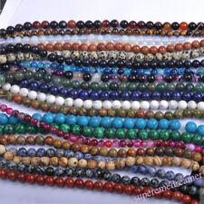 Wholesale Bulk Natural Round Spacer Gemstone Loose Beads Jewelry Making Supplies