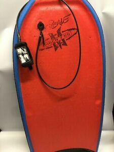Orange MOREY MACH 7 SS Jay Reale BODYBOARD boogieboard With Original Leash Pro
