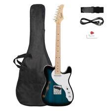 Gtl Semi-Hollow Electric Guitar F Hole Ss Pickups Maple Fingerboard Dark Blue