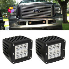 Dually X 2 Flush Mount Spot 3x3 LED Tail Fog Lights Fit ATV Off-Road Jeep Truck
