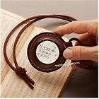 Nautical Magnifying Glass Hangs Around Your Neck on a Leather Holder Neck Loop