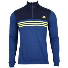 Adidas Herren Thermo Rad Trikot Fahrrad Jacke Winter Fleece Sweater Bike 3S blau