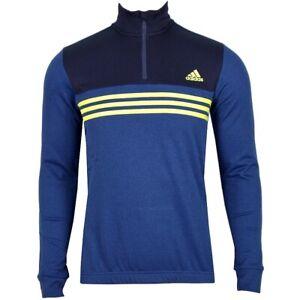 Adidas Men's Thermal Wheel Jersey Bicycle Jacket Winter Fleece Sweater Bike Blue