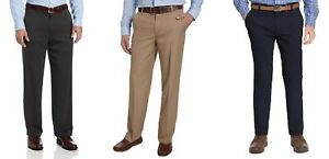 IZOD Men's Performance Comfort Flex Stretch Straight Fit Dress Pant