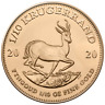 Südafrika - 1/10 Rand 2020 - Krügerrand - Anlagemünze - 1/10 Oz Gold ST