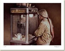 Ken DANBY Delicious LTD art print  rare sold out print! popcorn