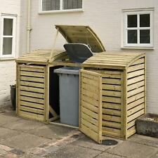 More details for rowlinson garden natural timber bin store (multiple sizes available)