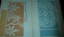 1901 LIBRO GIAPPONESE DI DESIGN X STOFFE E TESSUTI KIMONO AUTORE HONMA HYAKURI ~
