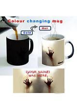 Walking Dead Personalised Magic Zombie Color Change Heat Reactive Coffee Mug.Cup