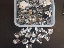 10 Clear rhombus sew On Stitch Jewel 17mm GEM CRYSTAL RHINESTONE trim Bead