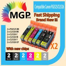 12x Compatible ink Cartridge PGI-525 CLI-526 for Canon MG8150 MG8250 MG6150 Grey