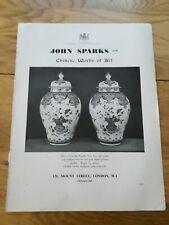 John Sparks (128 Mount St) Chinese Works of Art vintage original advertisement