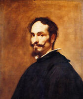 Huge nice Oil painting Diego Velazquez - Portrait of a Man with Mustache