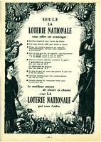 Publicité ancienne loterie nationale tentez votre chance 1968 issue de magazine