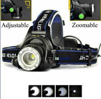 "LED Kopflampe /""HeadLight COB/"" 2 stufig dimmbar Blinkfunktion Stirnlampe Headlamp"