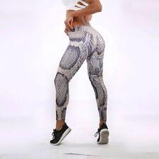 Snake Skin Print High Waist Leggings Trousers Size M (UK 8-10)