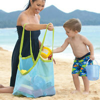 Extra Large Family Mesh Kids Sea Beach Bag Toys Towels Storage Sand Away