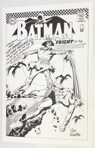 SIGNED Joe Giella Batman #189 Silver Age Cover Recreation Art Print SCARECROW