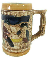 VINTAGE GERMAN STYLE CERAMIC COLLECTIBLE BEER STEIN MUG MADE IN JAPAN
